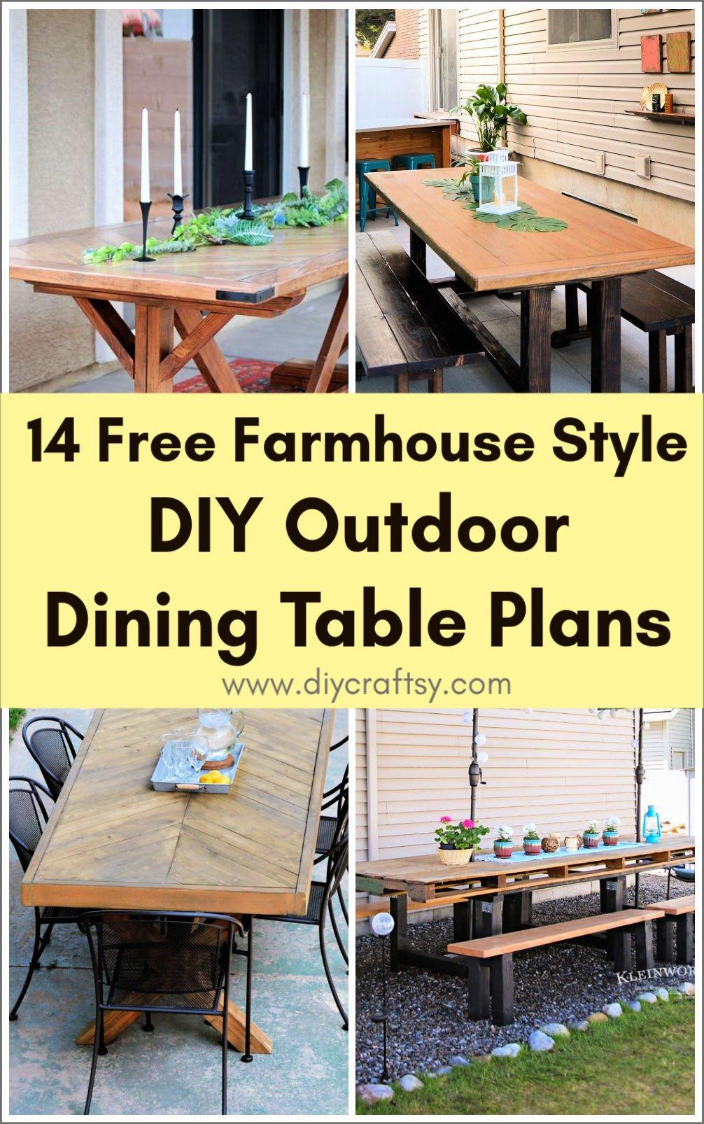 Planes de mesa de comedor al aire libre de bricolaje estilo granja gratis