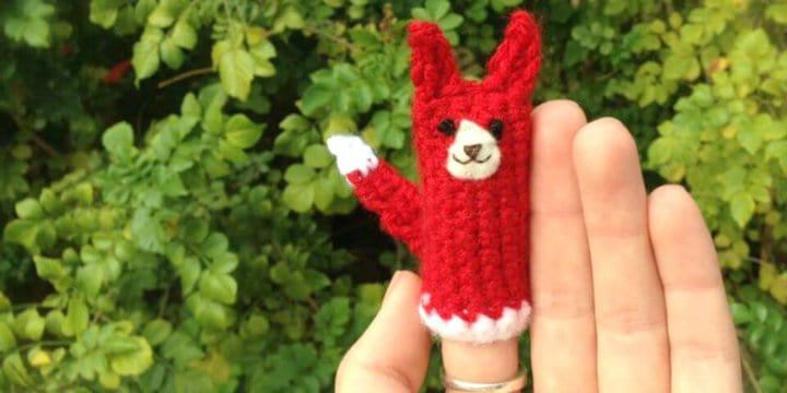 Patrón de marioneta de dedo de zorro de ganchillo gratis