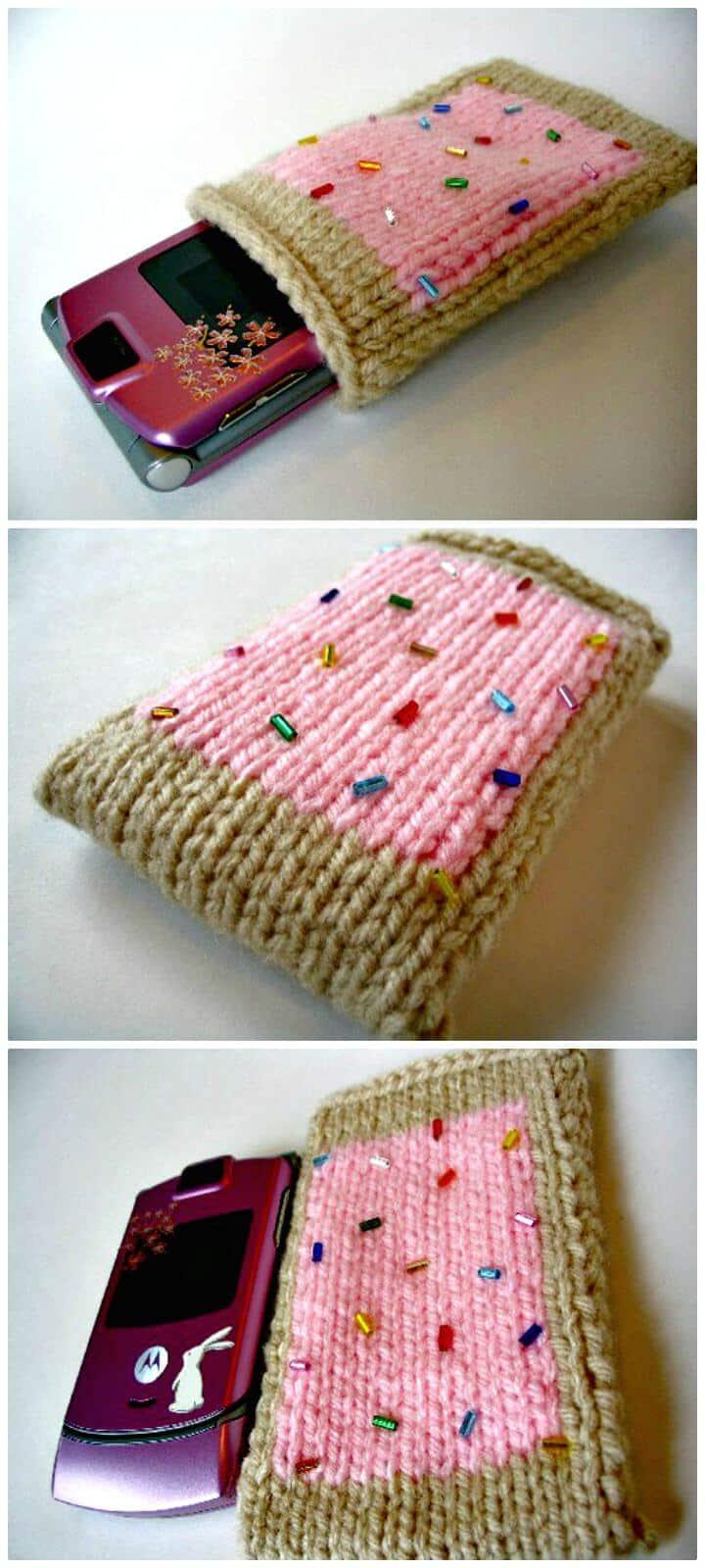 Cómo tejer el patrón de la caja del teléfono
