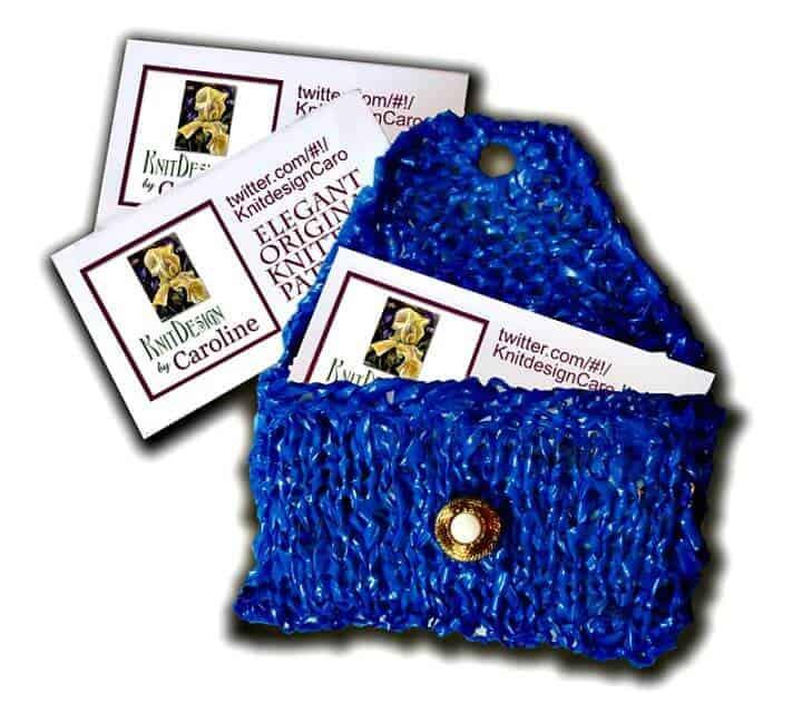 Patrón de caja de tarjeta de visita 3R de tejido gratis