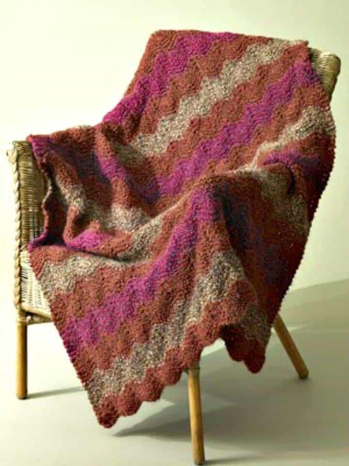 Free Knitting Catch the Wave Patrón afgano