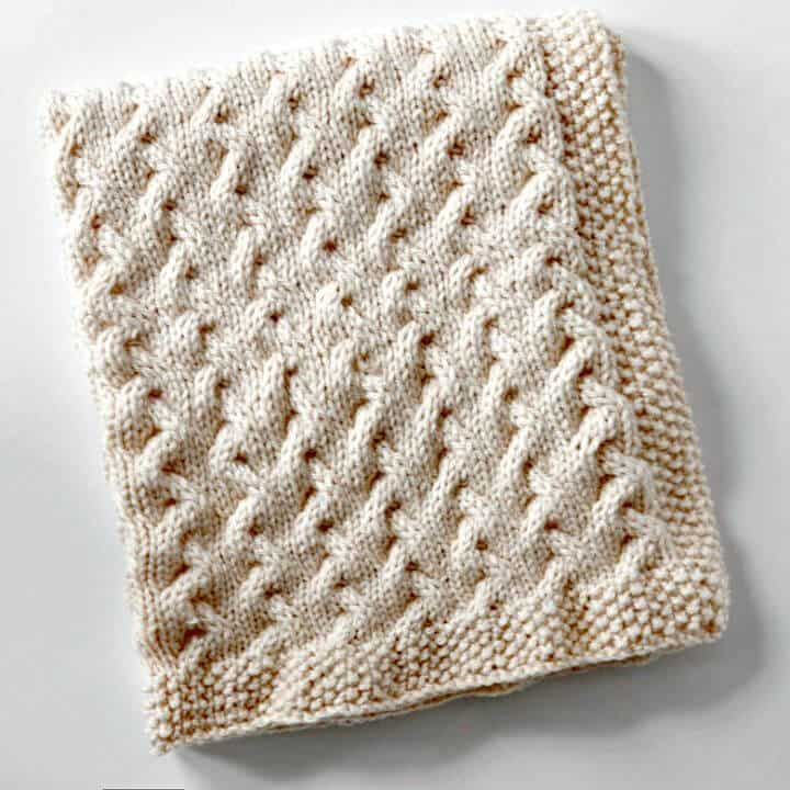 Manta para bebé de tejer pequeñas ondulaciones fáciles de tejer - Patrón gratuito