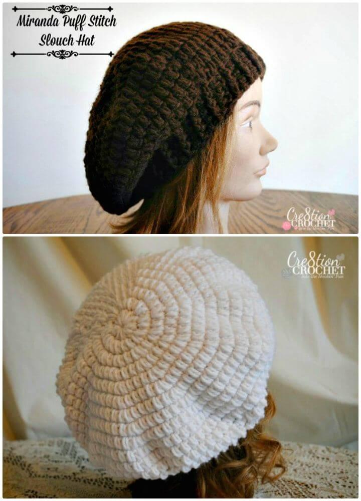 Cómo liberar el patrón de ganchillo de sombrero holgado