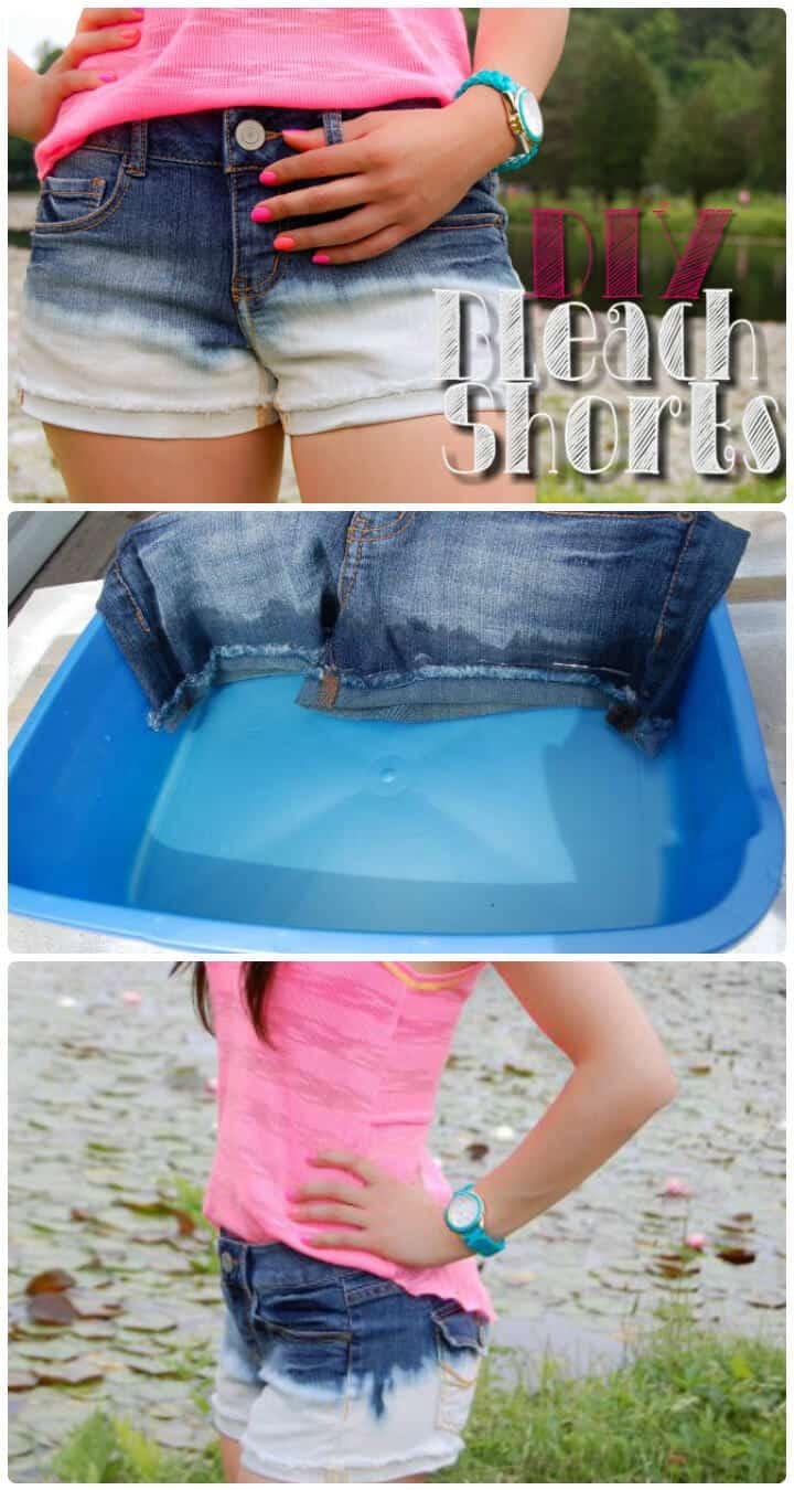 increíbles pantalones cortos de verano blanqueados para niñas