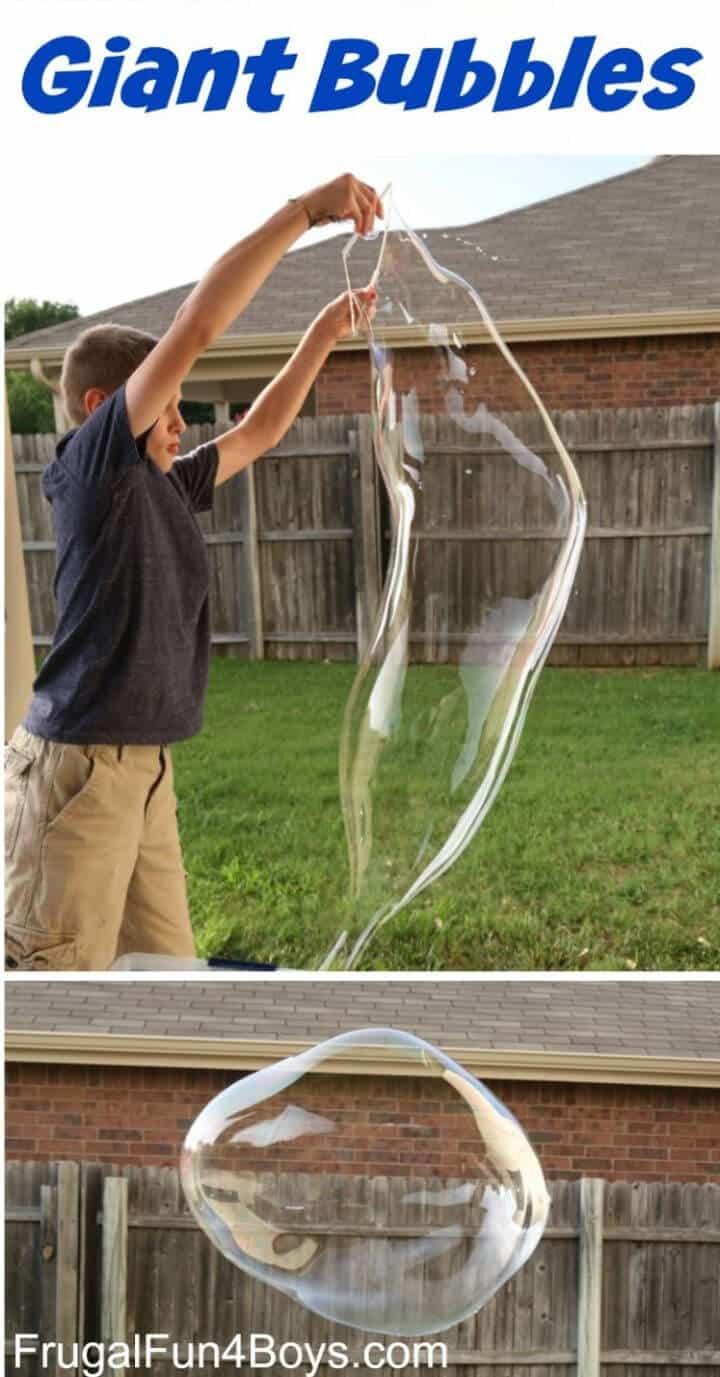 Receta de solución de burbuja gigante