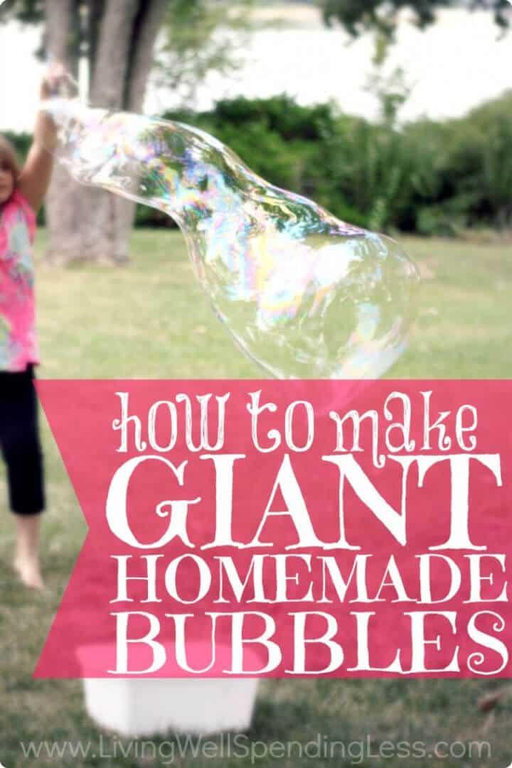 Burbujas gigantes caseras