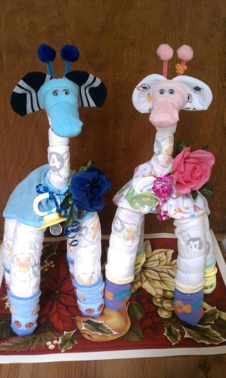 hermoso pañal jirafa decoraciones para baby shower