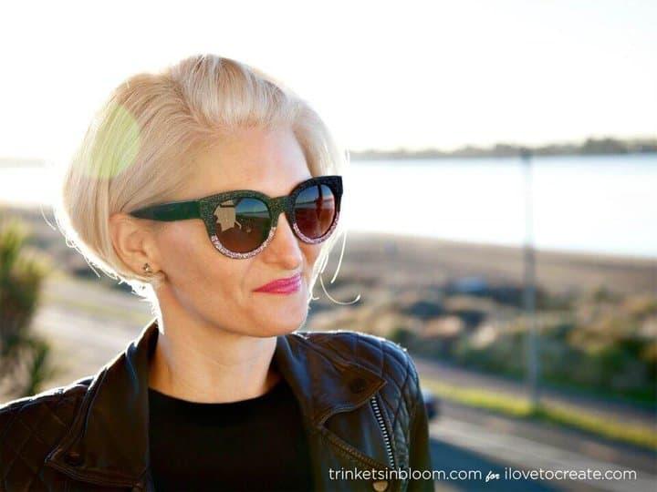 Cómo hacer gafas de sol con purpurina: bricolaje