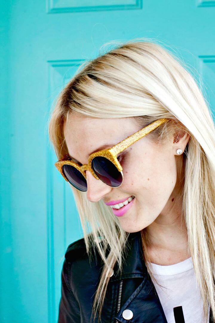 Cómo hacer gafas de sol con purpurina: estilo veraniego de bricolaje