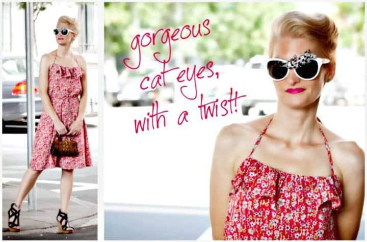 Magníficas gafas de sol de diamantes de imitación de bricolaje para el verano