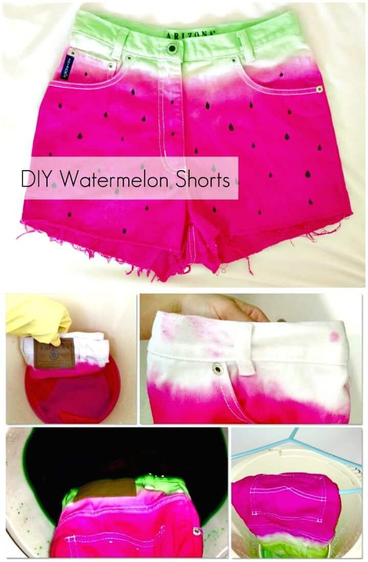 Cómo hacer pantalones cortos de sandía de bricolaje