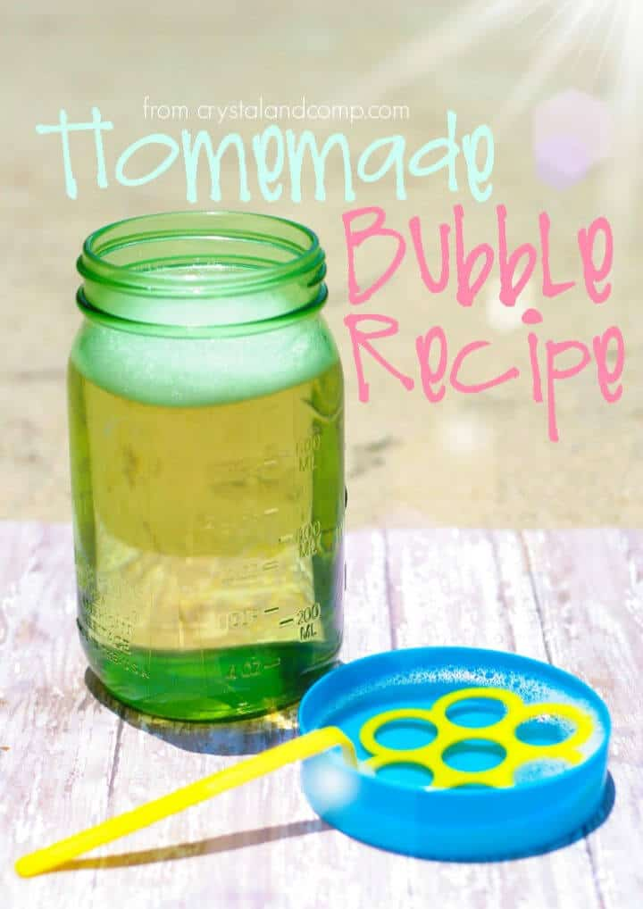 Receta de burbujas caseras para niños