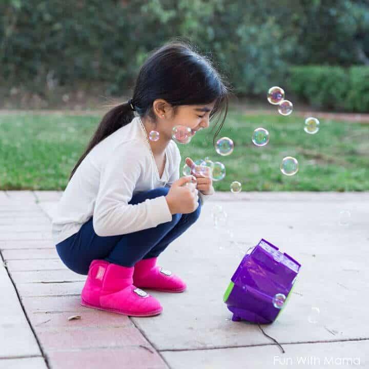 Burbujas caseras para niños