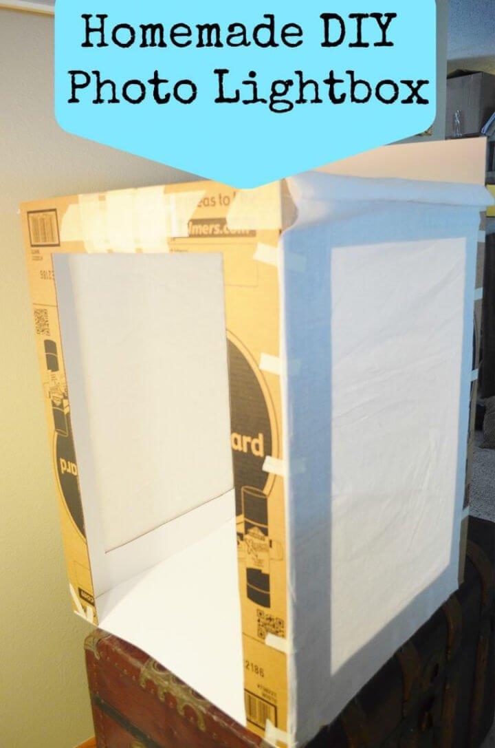 Caja de luz de fotografía casera