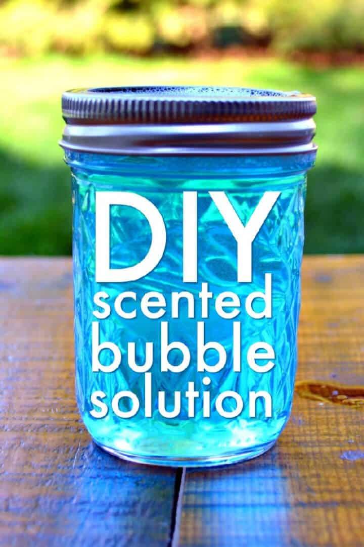 Burbujas aromáticas caseras
