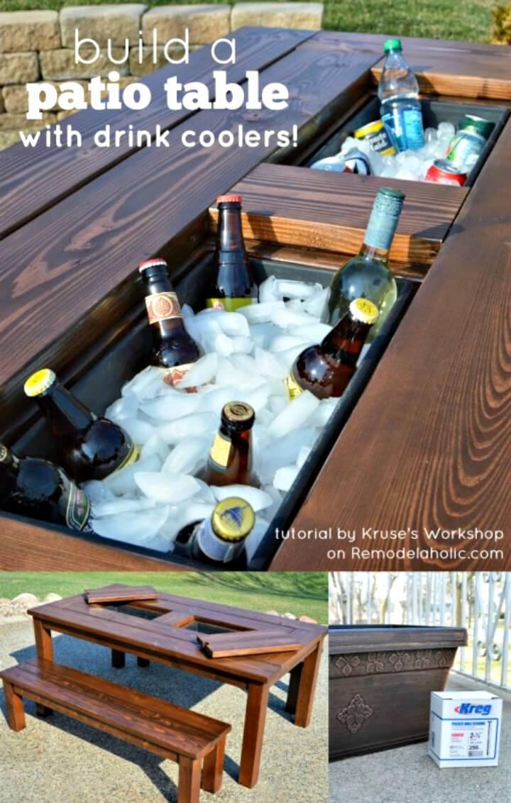 Cómo construir una mesa de jardín con hieleras integradas - Bricolaje