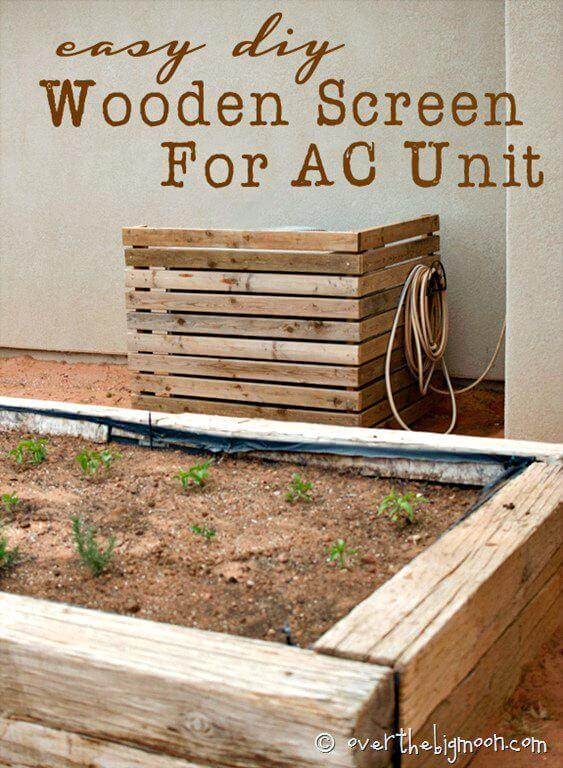Cómo construir una pantalla para su unidad de aire acondicionado - Bricolaje