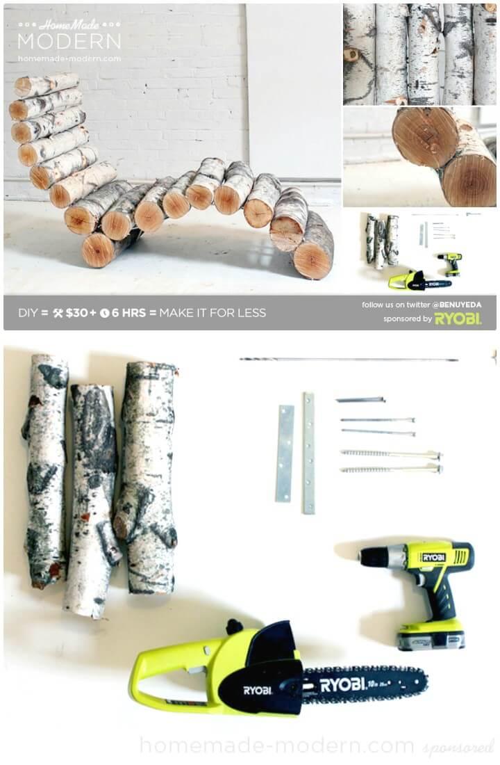 Construya su propia tumbona de troncos Ep14 - DIY