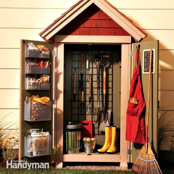 Proyecto de almacenamiento de armario de jardín de fácil construcción
