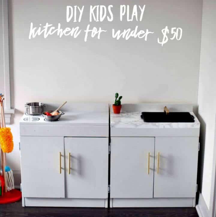 Cómo construir una cocina de juguete por $ 50