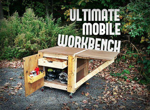 Tutorial fácil de cómo construir el banco de trabajo móvil definitivo