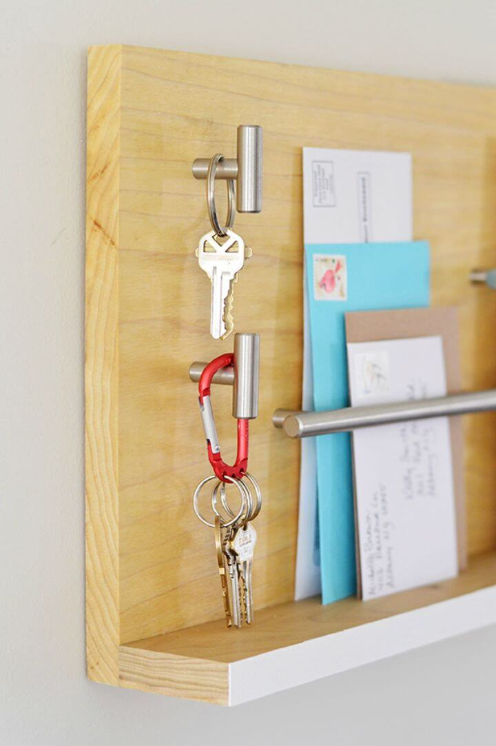 Fácil organizador de correo de pared de bricolaje para su tutorial de entrada