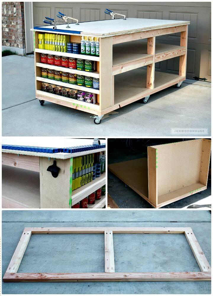 Tutorial fácil de cómo construir un banco de trabajo con estantes