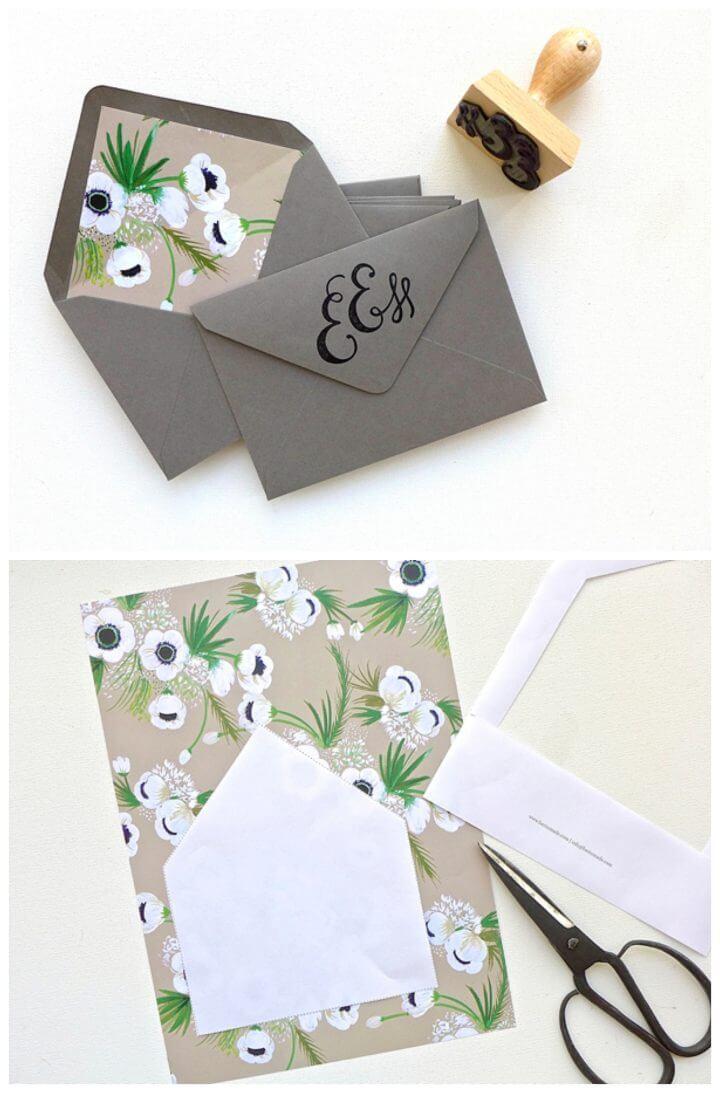 Cómo crear sobres de boda elegantes