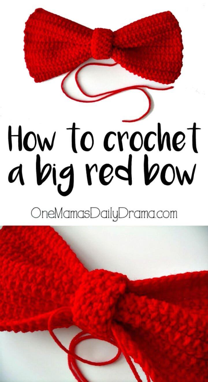 Cómo tejer un patrón de lazo rojo grande