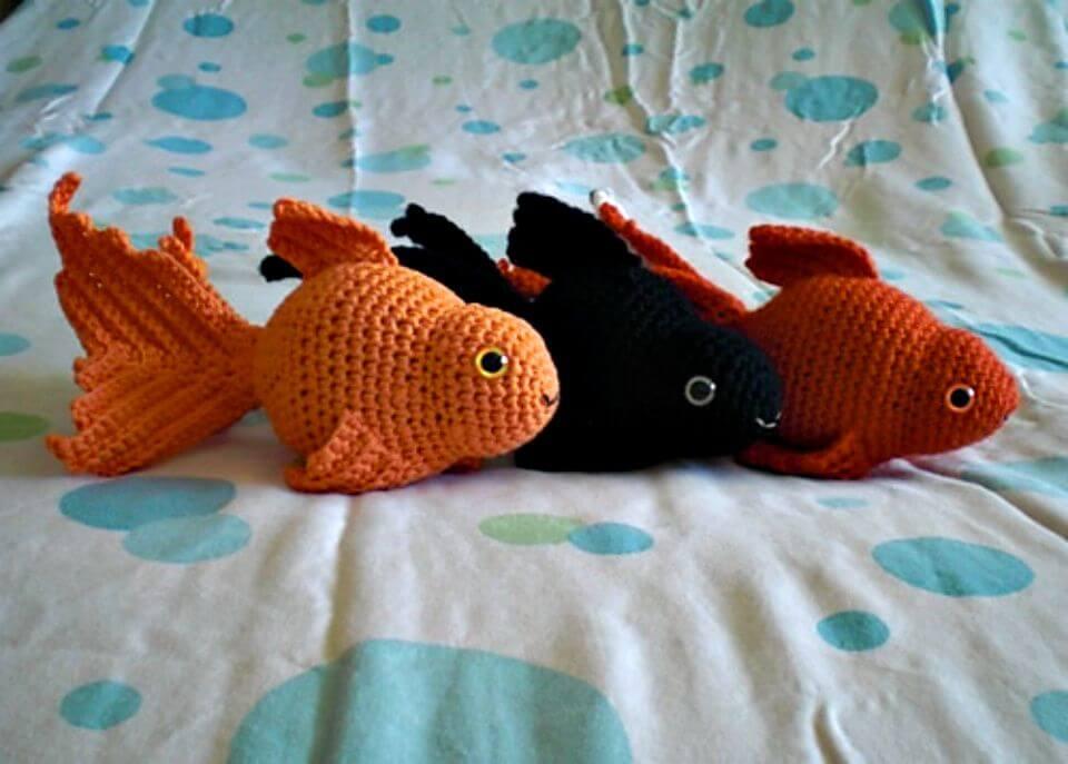 Patrón de amigurumi de peces de colores de lujo de ganchillo gratis