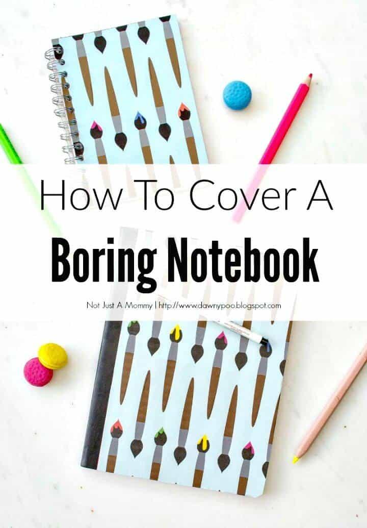Cómo hacer una portada para un cuaderno aburrido - DIY