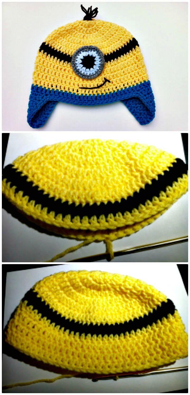 Patrón de sombrero de Minion de ganchillo fácil y gratuito