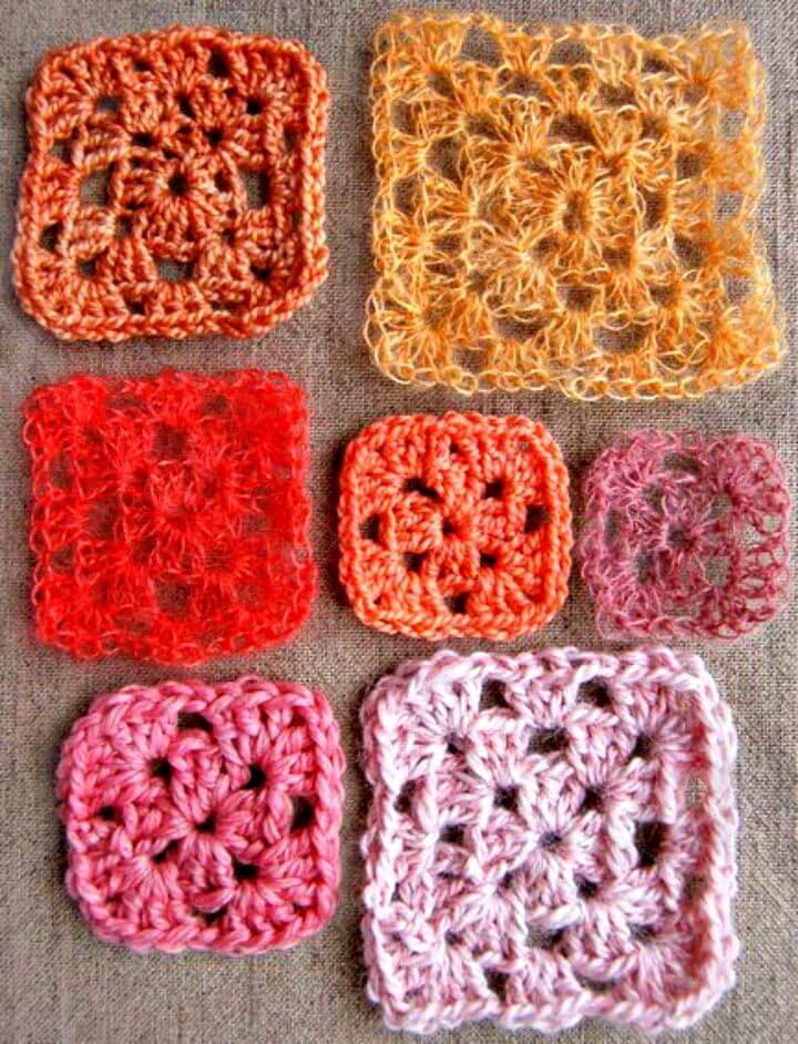 Cómo hacer un patrón cuadrado de abuelita a crochet fácil
