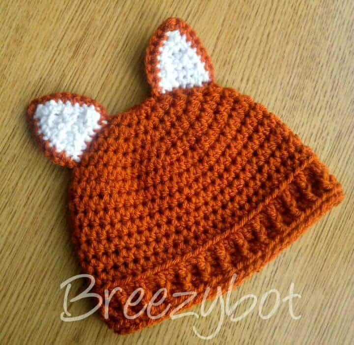 Cómo hacer un patrón de sombrero de zorro bebé de ganchillo gratis