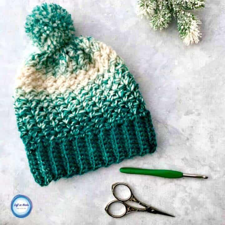 Cómo liberar el patrón de sombrero holgado de bola de nieve de ganchillo