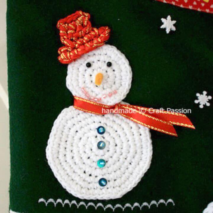 Cómo liberar el patrón de muñeco de nieve de ganchillo