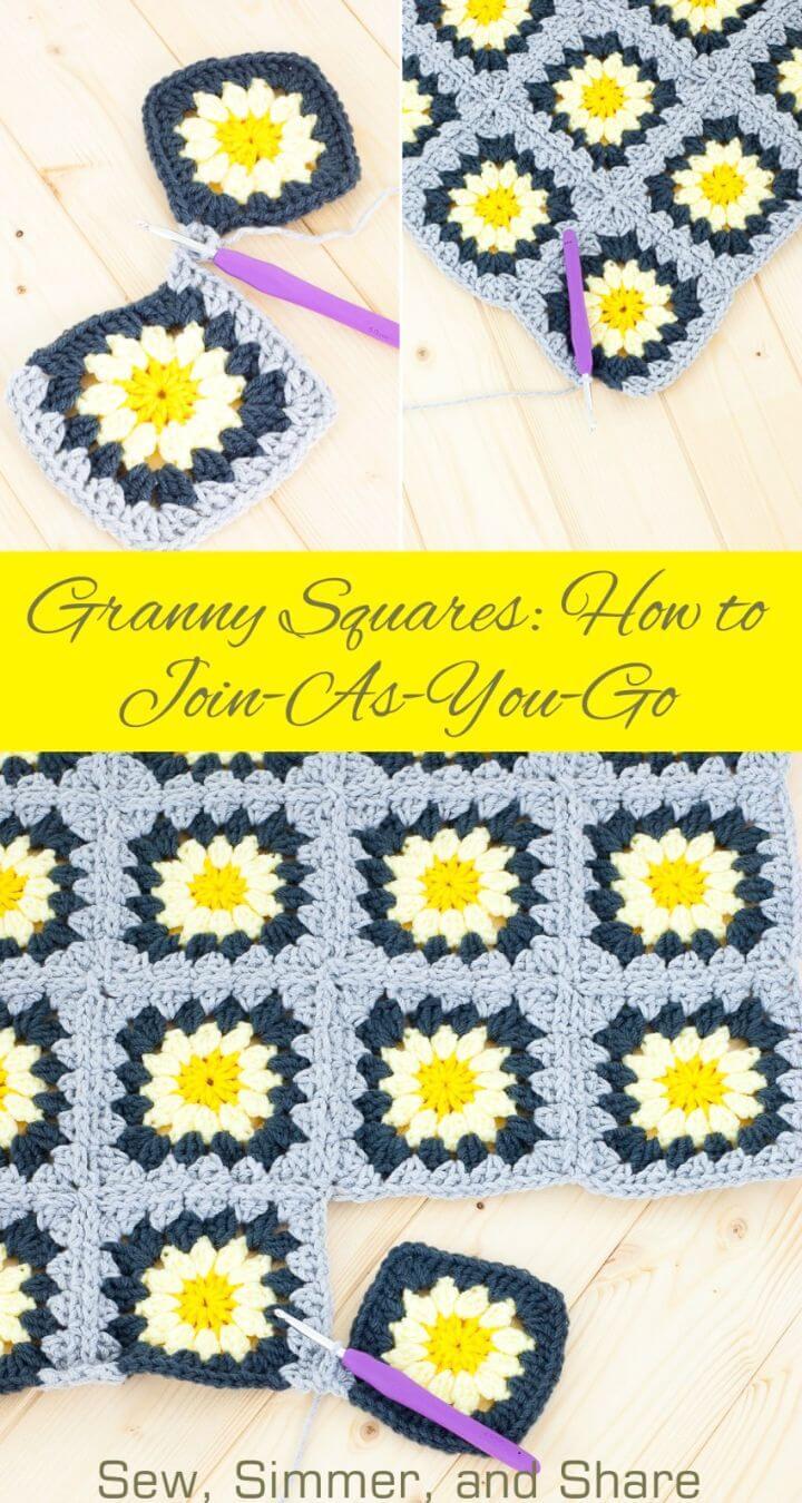 Cómo liberar el patrón de manta Granny Squares