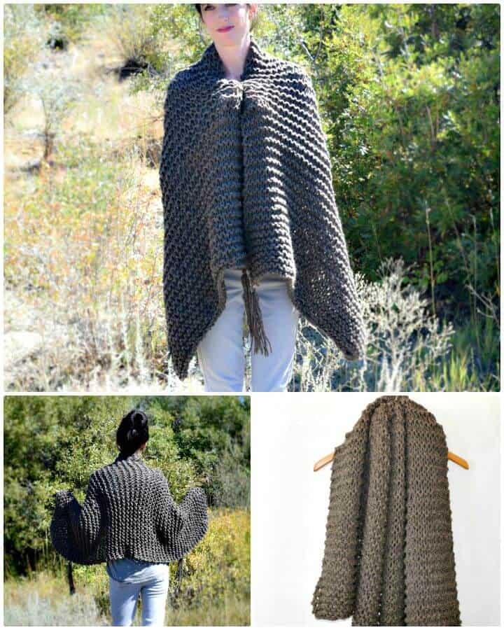 Cómo tejer un chal grande para principiantes - Patrón de bufanda
