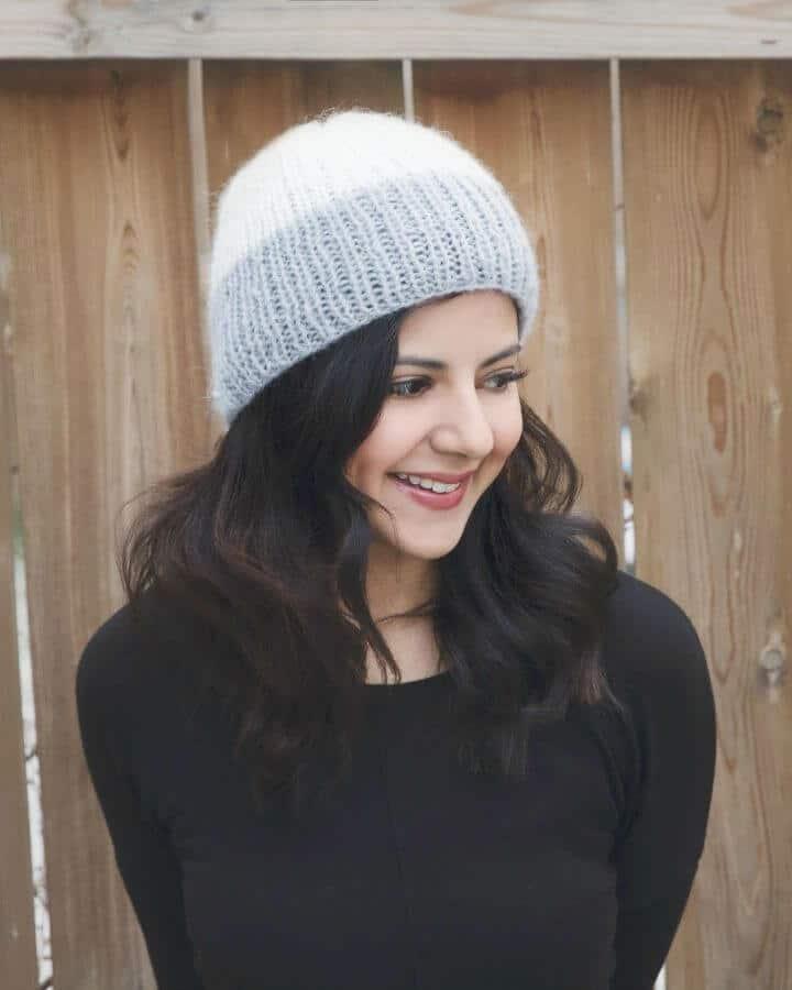 Patrón de gorro de invierno acanalado Reverie Easy Free Knit
