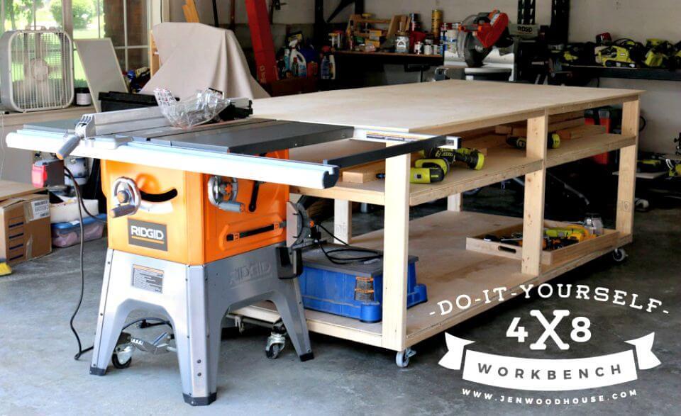 Tutorial de cómo hacer un banco de trabajo 4 × 8 y una mesa de salida