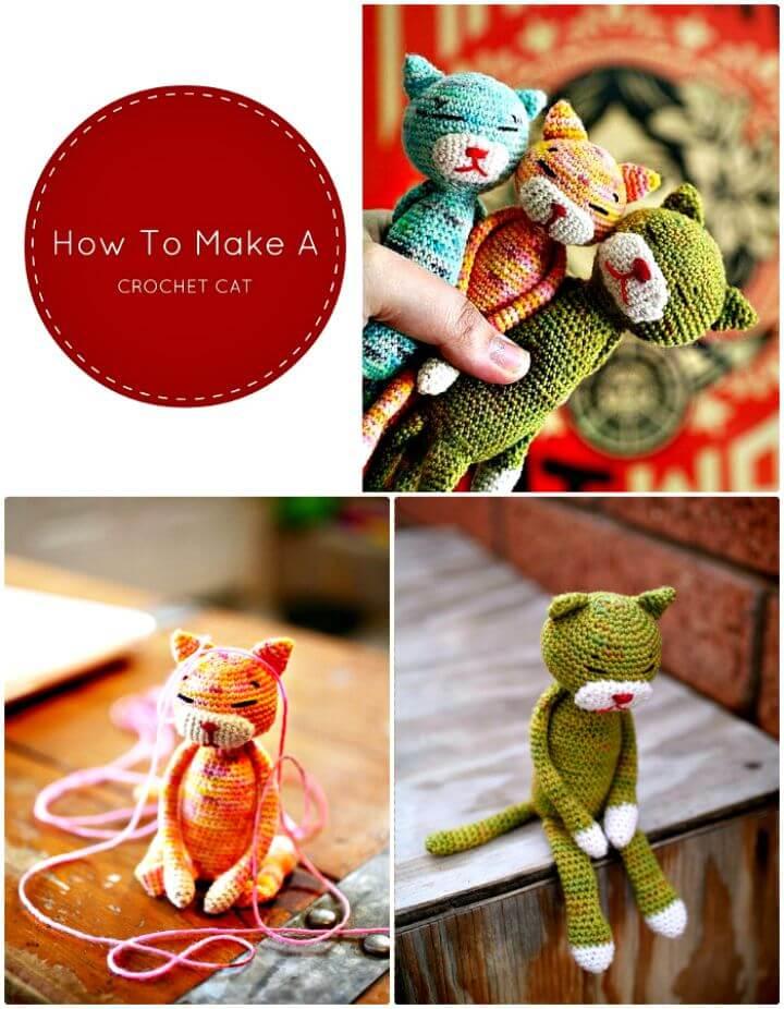 Cómo hacer un gato de ganchillo - Patrón gratuito
