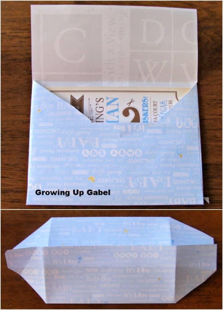 Cómo hacer un sobre con papel para álbumes de recortes
