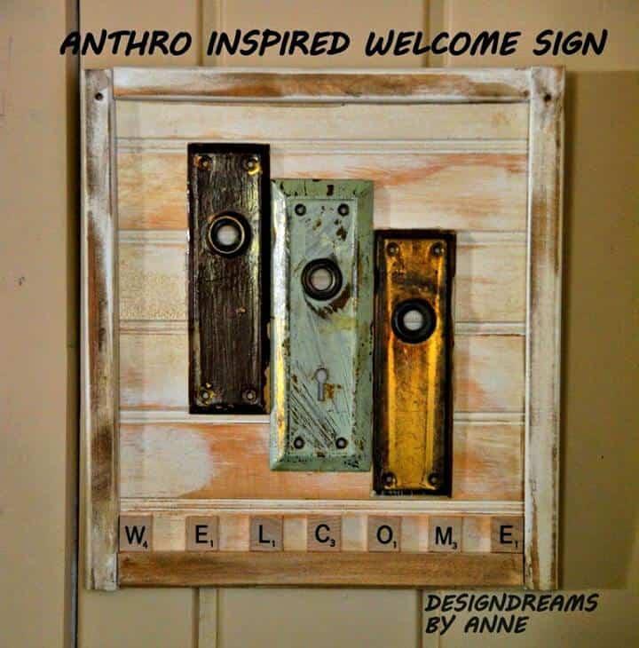 Cómo hacer un letrero de bienvenida inspirado en Anthro - DIY
