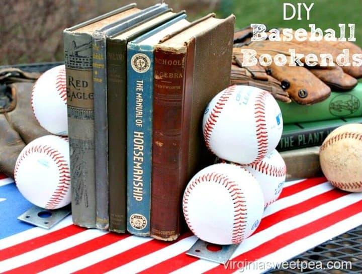 Cómo hacer sujetalibros de béisbol - DIY