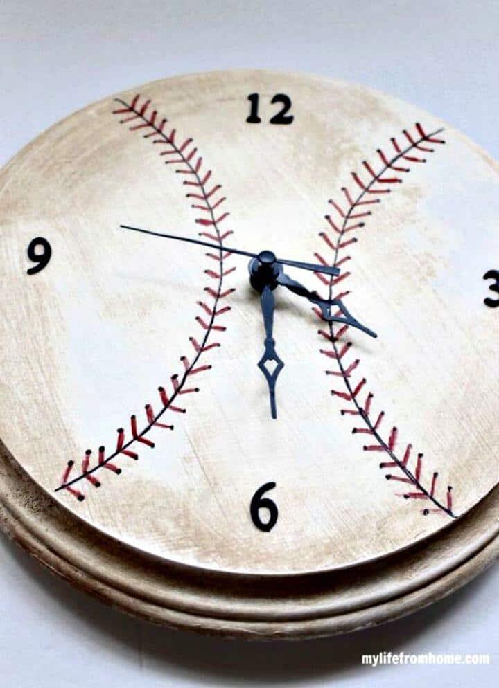 Impresionante reloj de béisbol de bricolaje