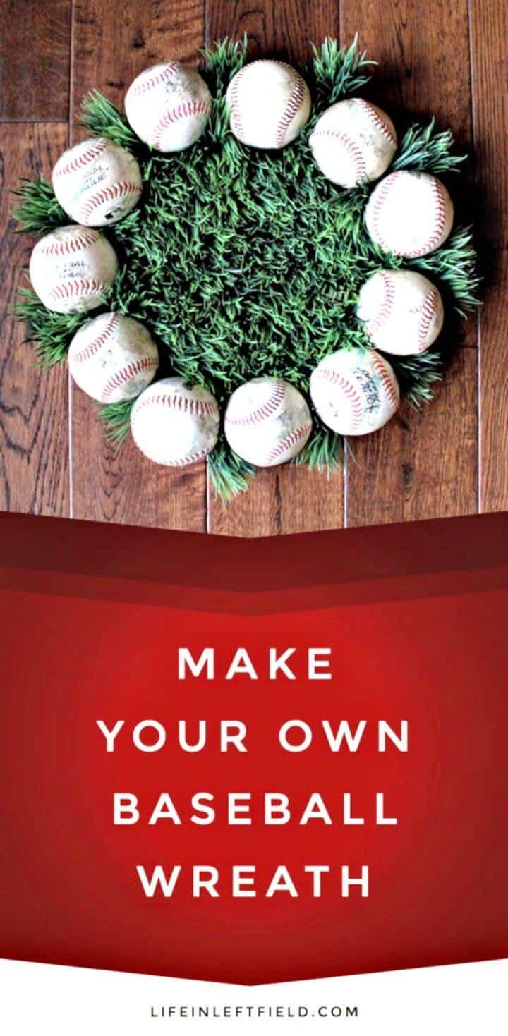 Cómo hacer una corona de béisbol - Manualidades de béisbol de bricolaje