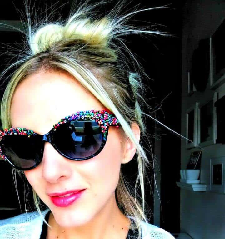 Gafas de sol con cuentas fáciles de hacer