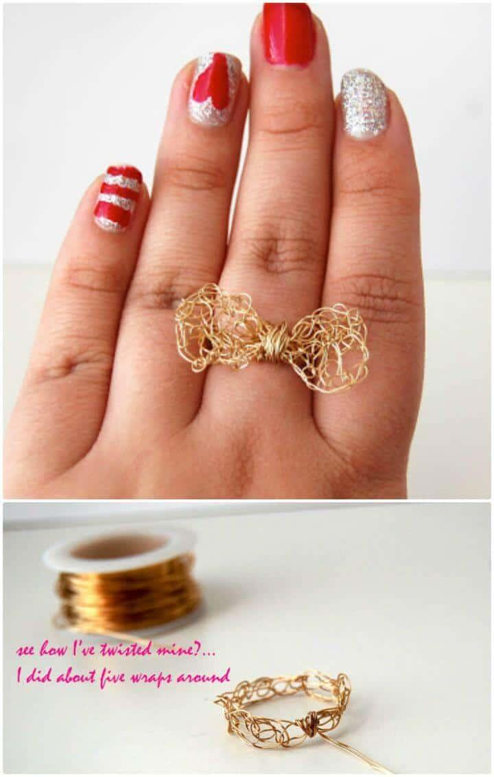 Patrón de anillo de lazo de ganchillo gratis