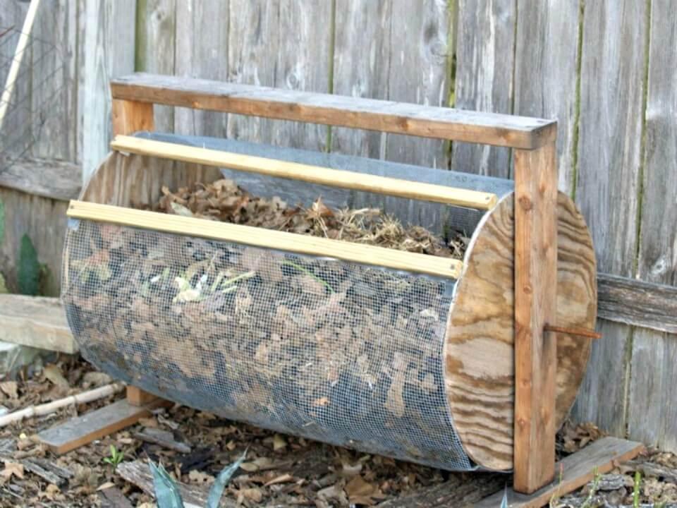 Cómo hacer compostador estilo tambor - DIY