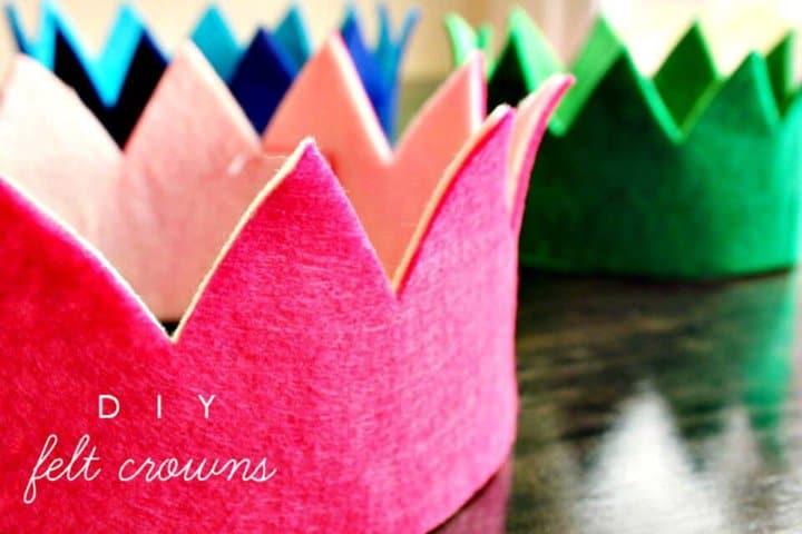 Cómo hacer una corona de fieltro - DIY